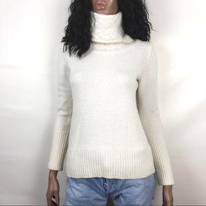 Banana Republic Chunky Knit High Collar Sweater